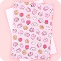Tofu Cute A5 Notebook - Happy Pink Things