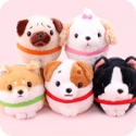 Amuse Round Dog Collection 10cm Plush