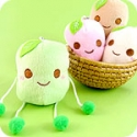 Kawaii Bamboo Leaf Onigiri Rice Ball Plush